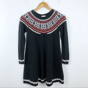 HANNA ANDERSSON Fair Isle Twirl Dress 140 USA 10